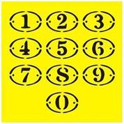 """Στένσιλ πλαστικό """"Αριθμοί"""" 16x16εκ.  (ST0045)"""