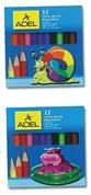 Adel ξυλομπογιές μισού μήκους 12 χρώματα