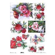 """Ριζόχαρτο """"red roses"""" 42x29.7εκ.   (ITD-R093L)"""