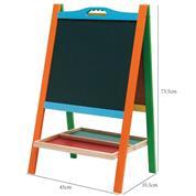 Πίνακας παιδικός διπλός χρωματιστός 76x45x6εκ.