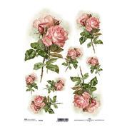 """Ριζόχαρτο """"pink roses"""" 21x29εκ.   (ITD-R1202)"""