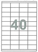 Fleks ετικέτ. αυτοκόλ. λευκές 52.5x29.7mm 40/φ 100φ Α4