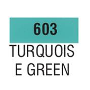Talens χρώμα decorfin satin 603 turquoise green16 ml