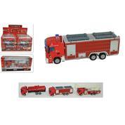 Οχήματα μεταλλικά πυροσβεστικής 3 σχέδια 15x6εκ.
