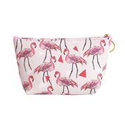 """Κασετίνα pu """"Flamingo"""" λευκό-ροζ Y13x22x16εκ."""
