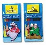 Adel ξυλομπογιές μισού μήκους 6 χρώματα