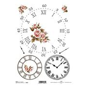 """Ριζόχαρτο """"clocks 1"""" 21x29εκ.   (ITD-R144)"""