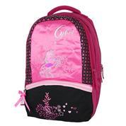 "Bagtrotter τσάντα δημοτικού πλάτης ""Cyber"" μαύρο-ροζ 43x30x19εκ."