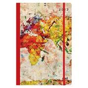 Next ημερολόγιο 2022 Trends ημερήσιο flexi με λάστιχο 12x17εκ. World map