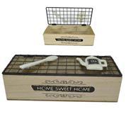 Κουτί αποθήκευσης με 3 θέσεις ξύλινο Υ7x24x16εκ.