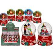 Χριστουγεννιάτικη χιονόμπαλα με μπαταρία 7,5x9,5εκ.