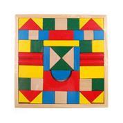 Τουβλάκια ξύλινα χρωματιστά 48τεμ. 21x21εκ.