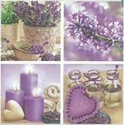"""Χαρτοπετσέτες 20τεμ. """"lavender"""" 33x33εκ. (SLOG023901)"""