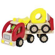 Goki φορτηγό τρέιλερ ξύλινο Υ13x8x34εκ.