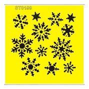 """Στένσιλ πλαστικό """"Χιονονιφάδες"""" 16x16εκ.  (ST0109A)"""