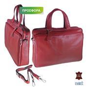 Δερμάτινη τσάντα επαγγελματική 27x39x8εκ. κόκκινη