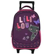 "Bagtrotter τσάντα δημοτικού τρόλευ ""Lililou"" μωβ-ροζ 42x30x14εκ."