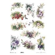 """Ριζόχαρτο """"bouquets 3"""" 42x29.7εκ.   (ITD-R053L)"""