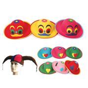 Καπέλα τσόχινα κλόουν σε διάφορα χρώματα