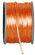 Κορδέλα σατέν ποντικοουρά πορτοκαλί μπομπίνα 50μ.