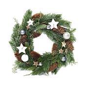 Χριστουγεννιάτικο στεφάνι με διακόσμηση Ø34εκ.