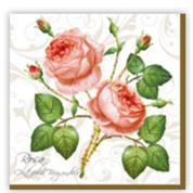 """Χαρτοπετσέτσες 20τεμ. """"rose"""" 33x33εκ. (SLOG003101)"""