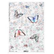 """Ριζόχαρτο """"Butterflies-flowers"""" 21x29εκ.   (ITD-R1406)"""