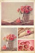 """Χαρτί decoupage """"Flowers"""" 32x48εκ."""