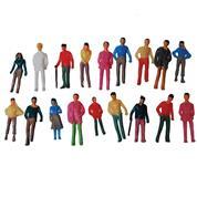 Ανθρώπινες χρωματιστές φιγούρες μακέτας πλαστικές 1:75, ύψος 2,5εκ. (20τεμ.)
