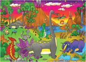 "Next παζλ ""Ο κόσμος των δεινοσαύρων"" 35x50εκ. 48 τεμαχίων"