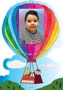 """Next σχολικό ενθύμιο αναλογικό με κοπτικό """"Αερόστατο"""" 43x30εκ."""