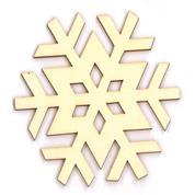Χιονονιφάδα ξύλινη 8x7,5x0,3εκ.