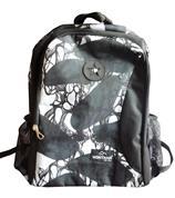 Montana τσάντα πλάτης εφηβική μαύρα λουλούδια με 1 θήκη 40x28x13εκ.
