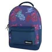 "Bagtrotter τσάντα πλάτης ""Offshore με λουλούδια"" μπλε 41x30x13εκ."