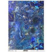 """Ριζόχαρτο """"precious stones navy blue"""" 21x29.7εκ.   (ITD-R1661)"""