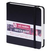 Talens Sketch book μαύρο 80φυλ. 12x12εκ. 140 γρ.