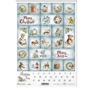 """Ριζόχαρτο """"Christmas calendar"""" 21x29.7εκ.   (ITD-R1640)"""