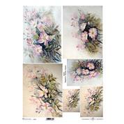 """Ριζόχαρτο """"flowers"""" 42x29.7εκ.   (ITD-R107L)"""