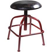 Σκαμπώ industrial με κόκκινα σιδερένια πόδια Υ50,5-63εκ.x35εκ.