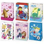 Χάρτινη τσάντα παιδική Υ32x23x11εκ. διάφ. σχέδια (T5_OG_159)