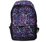Montana τσάντα πλάτης εφηβική μαύρη με σχέδια με 1 θήκη 42x31x13εκ.