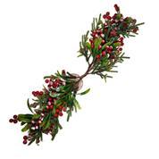 Χριστουγεννιάτικο διακοσμητικό κλαδί με γκι 65εκ.