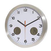 """Ρολόι τοίχου """"cool time"""" εσωτερ.-εξωτερικ. θερμοκρασίας Ø30εκ."""