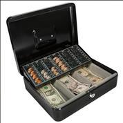 Κουτί φύλαξης-μεταφοράς χρημάτων γκρι 24,5x17,5x8,5εκ.