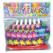 """Φρου φρου """"happy birthday"""" 6τεμ."""